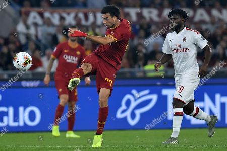 Javier Pastore in action during the match