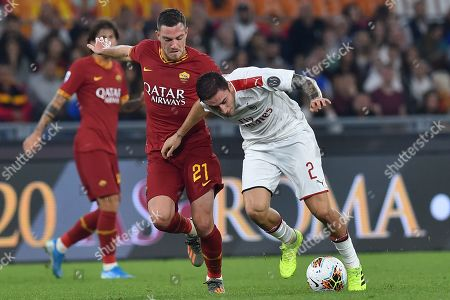 Editorial image of AS Roma v AC Milan, Serie A football match, Rome, Italy - 27 Oct 2019