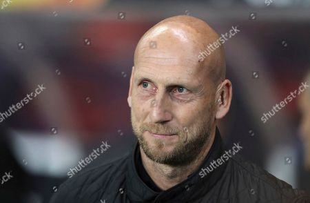 XEUROPALEAGUEX. Dated, Feyenoord's manager Jaap Stam before the Europa League group G soccer match against Rangers at Ibrox in Glasgow, Scotland. Feyenoord coach Jaap Stam has quit, Monday Oct. 28, 2019, a day after his team slumped to a 4-0 defeat at arch-rival Ajax