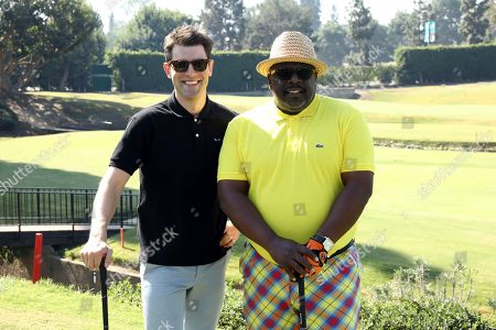 Max Greenfield, Cedric the Entertainer. Max Greenfield, left, and Cedric the Entertainer attend the 20th Annual Emmys Golf Classic at the Wilshire Country Club, in Los Angeles