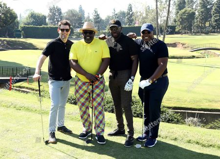 Max Greenfield, Cedric the Entertainer, Sheaun McKinney, Marcel Spears. Max Greenfield, from left, Cedric the Entertainer, Sheaun McKinney, and Marcel Spears attend the 20th Annual Emmys Golf Classic at the Wilshire Country Club, in Los Angeles