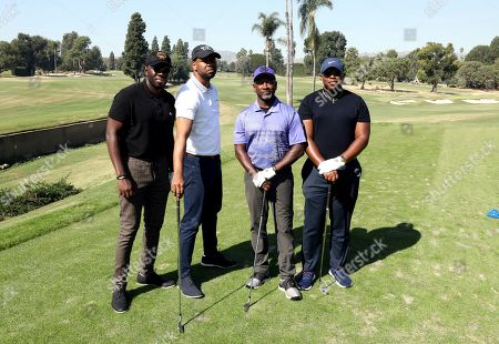Sheaun McKinney, Bechir Sylvain, Joe Torry, Marcel Spears. Sheaun McKinney, from left, Bechir Sylvain, Joe Torry and Marcel Spears from team 8 participate in the 20th Annual Emmys Golf Classic at the Wilshire Country Club, in Los Angeles