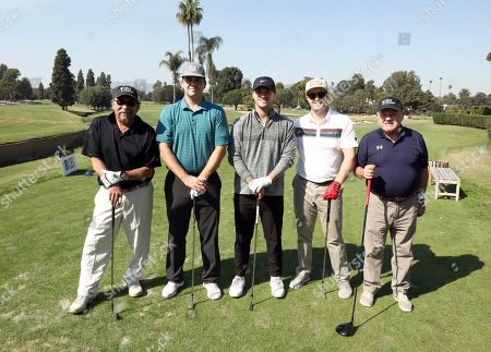 Mark Shimizu, Ryan Golden, Ryan Koerner, Troy Graves, Jack McGee. Mark Shimizu, from left, Ryan Golden, Ryan Koerner, Troy Graves, and Jack McGee from team 1 participate in the 20th Annual Emmys Golf Classic at the Wilshire Country Club, in Los Angeles