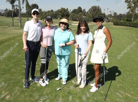 Hunter Isaacson, Dawn DuMont-Perdew, Patrika Darbo, Kate Linder, Andia Winslow. Hunter Isaacson, from left, Dawn DuMont-Perdew, Patrika Darbo, Kate Linder and Andia Winslow from team16 participate in the 20th Annual Emmys Golf Classic at the Wilshire Country Club, in Los Angeles