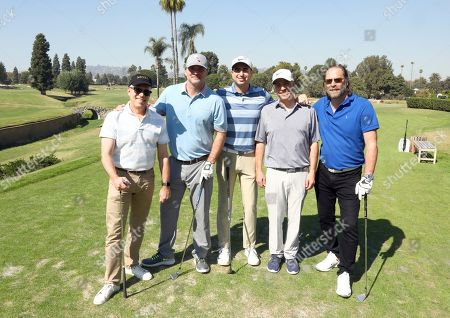 Steve Stark, Max Kisbye, Rob Hochberg, Bruce Terris, Jeff Nordling. Steve Stark, from left, Max Kisbye, Rob Hochberg, Bruce Terris, and Jeff Nordling from team 3 participate in the 20th Annual Emmys Golf Classic at the Wilshire Country Club, in Los Angeles