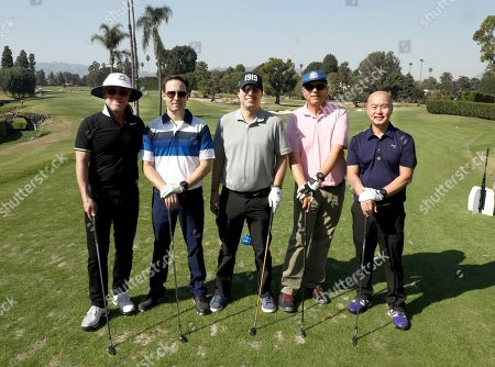 Mark Binke, Eric Gray, Thomas Glover, Bob Lemchen, C.S. Lee. Mark Binke, from left, Eric Gray, Thomas Glover, Bob Lemchen, and C.S. Lee of team 15 participate in the 20th Annual Emmys Golf Classic at the Wilshire Country Club, in Los Angeles