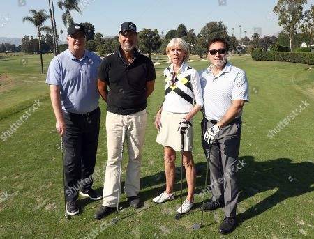 John Solberg, Paul Otte, Deb Coyle, Benito Martinez. John Solberg, from left, Paul Otte, Deb Coyle and Benito Martinez from team 7 participate in the 20th Annual Emmys Golf Classic at the Wilshire Country Club, in Los Angeles