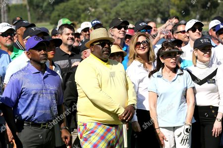 Joe Torry, Cedric the Entertainer, Jodi Delaney, Kate Linder, Karla Pita Loor. Joe Torry, from left, Cedric the Entertainer, Jodi Delaney, Kate Linder, and Karla Pita Loor attend the 20th Annual Emmys Golf Classic at the Wilshire Country Club, in Los Angeles