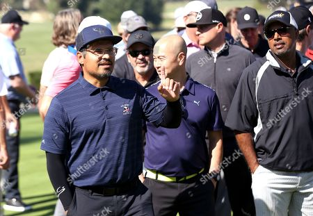 Michael Pena, C.S. Lee. Michael Pena, left, and C.S. Lee attend the 20th Annual Emmys Golf Classic at the Wilshire Country Club, in Los Angeles