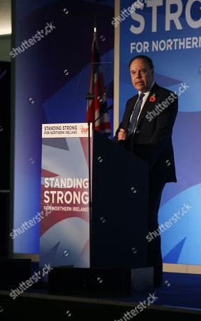 Editorial photo of DUP Annual Conference, Belfast, Northern Ireland, UK - 26 Oct 2019