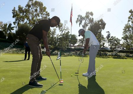 Sheaun McKinney, Anthony Alabi. Sheaun McKinney, left, and Anthony Alabi attend the 20th Annual Emmys Golf Classic at the Wilshire Country Club, in Los Angeles