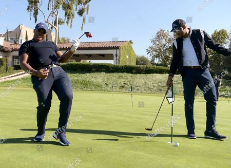 Marcel Spears, Bechir Sylvain. Marcel Spears, left, and Bechir Sylvain attend the 20th Annual Emmys Golf Classic at the Wilshire Country Club, in Los Angeles