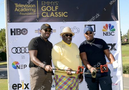 Sheaun McKinney, Cedric the Entertainer, Marcel Spears. Sheaun McKinney, from left, Cedric the Entertainer, and Marcel Spears attend the 20th Annual Emmys Golf Classic at the Wilshire Country Club, in Los Angeles