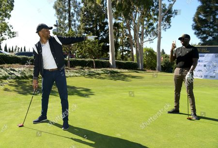 Bechir Sylvain, Sheaun McKinney. Bechir Sylvain, left, and Sheaun McKinney attend the 20th Annual Emmys Golf Classic at the Wilshire Country Club, in Los Angeles