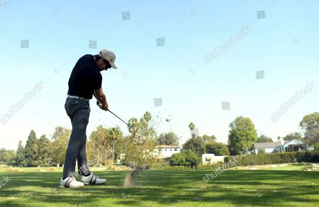 Arturo del Puerto of team 21 plays in the 20th Annual Emmys Golf Classic at the Wilshire Country Club, in Los Angeles