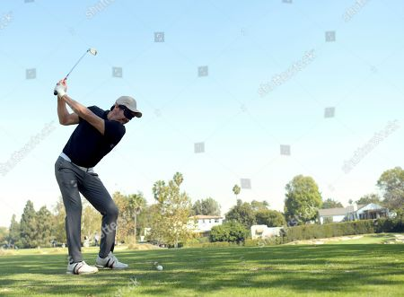 Stock Picture of Arturo del Puerto of team 21 plays in the 20th Annual Emmys Golf Classic at the Wilshire Country Club, in Los Angeles