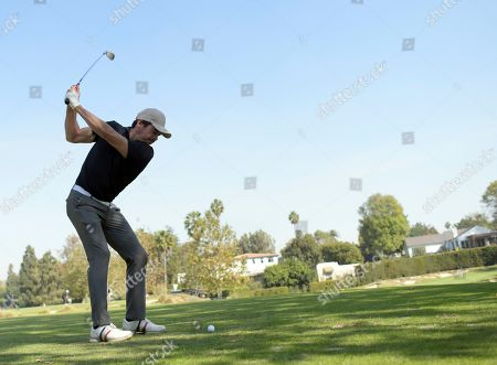 Stock Image of Arturo del Puerto of team 21 plays in the 20th Annual Emmys Golf Classic at the Wilshire Country Club, in Los Angeles