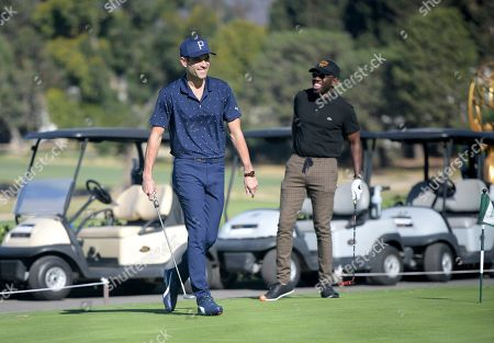 Brennin Hunt, Sheaun McKinney. Brennin Hunt, left, and Sheaun McKinney attend the 20th Annual Emmys Golf Classic at the Wilshire Country Club, in Los Angeles
