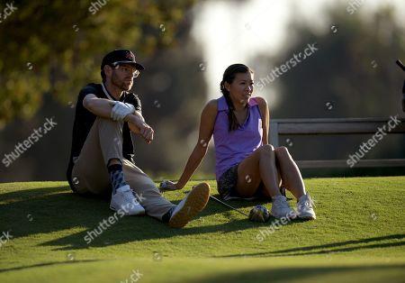 Tim Simons and Natasha Shum