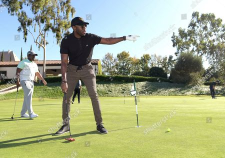 Sheaun McKinney attends the 20th Annual Emmys Golf Classic at the Wilshire Country Club, in Los Angeles