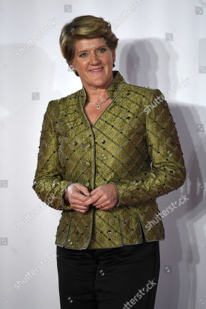 British TV presenter Claire Balding attends the world premiere of 'The Good Liar' in London, Britain, 28 October 2019. The film will be released in UK cinemas on 08 November.