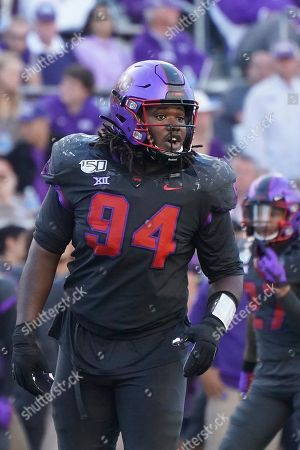 TCU defensive tackle Corey Bethley (94) is pictured in the second half of an NCAA college football game against Texas in Fort Worth, Texas