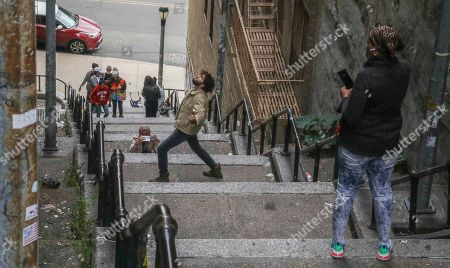 Editorial picture of Joker Stairs, New York, USA - 28 Oct 2019