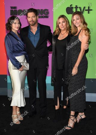 """Sarah Kate Connick, Harry Connick Jr., Jill Goodacre, Georgia Tatum Connick. Sarah Kate Connick, from left, Harry Connick Jr., Jill Goodacre and Georgia Tatum Connick attend the world premiere of Apple's """"The Morning Show"""" at David Geffen Hall, in New York"""