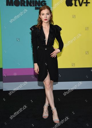 """Skyler Samuels attends the world premiere of Apple's """"The Morning Show"""" at David Geffen Hall, in New York"""