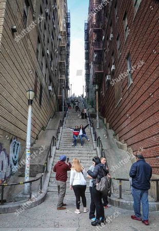 Editorial image of Joker Stairs, New York, USA - 28 Oct 2019