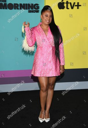 """Phoebe Robinson attends the world premiere of Apple's """"The Morning Show"""" at David Geffen Hall, in New York"""
