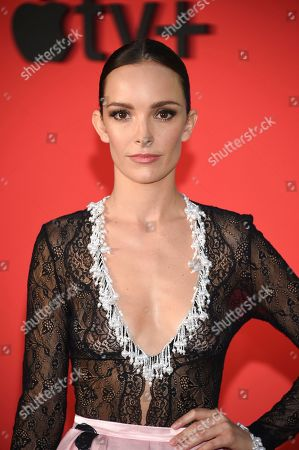 """Jodi Balfour attends the world premiere of Apple TV+'s """"The Morning Show"""" at David Geffen Hall at Lincoln Center on Monday, Oct. 28, in New York"""