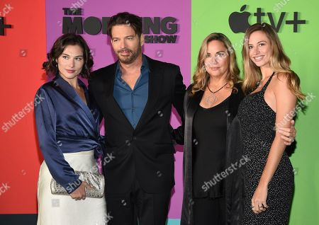 """Sarah Kate Connick, Harry Connick Jr, Jill Goodacre, Georgia Tatum Connick. Sarah Kate Connick, from left, Harry Connick Jr., Jill Goodacre and Georgia Tatum Connick pose together at the world premiere of Apple TV+'s """"The Morning Show"""" at David Geffen Hall at Lincoln Center on Monday, Oct. 28, in New York"""