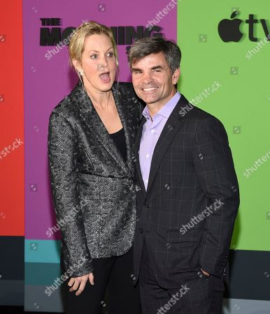 """Ali Wentworth, George Stephanopoulos. Ali Wentworth, left, and husband George Stephanopoulos attend the world premiere of Apple TV+'s """"The Morning Show"""" at David Geffen Hall at Lincoln Center on Monday, Oct. 28, in New York"""