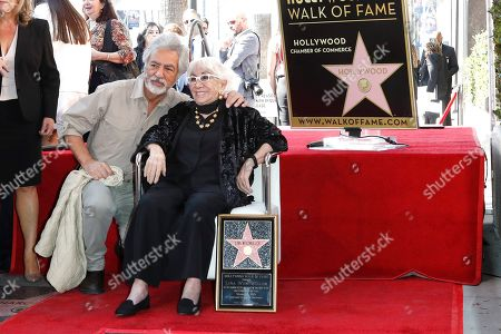 Joe Mantegna and Italian filmmaker Lina Wertmuller pose during her Hollywood Walk of Fame star ceremony in Hollywood, Los Angeles, California, USA 28 October 2019. Lina Wetmuller received the 2,679th star on the Hollywood Walk of Fame in the category of Motion Pictures.