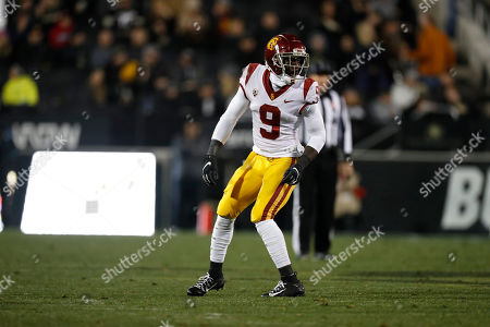 R m. Southern California cornerback Greg Johnson (9) in the second half of an NCAA college football game, in Boulder, Colo. Southern California won 35-31