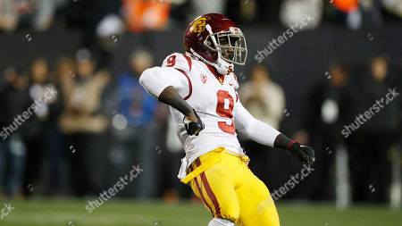 Southern California cornerback Greg Johnson (9) in the second half of an NCAA college football game, in Boulder, Colo. Southern California won 35-31