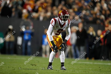 R m. Southern California cornerback Greg Johnson (9) in the first half of an NCAA college football game, in Boulder, Colo