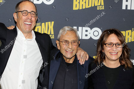 Jerry Seinfeld, George Shapiro and Lisa Heller