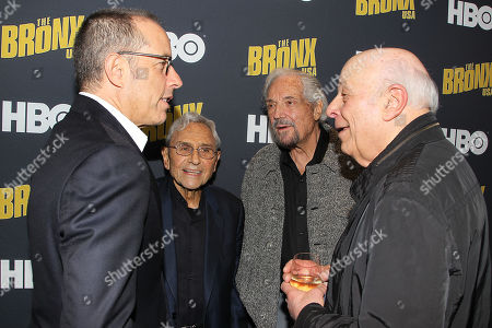 Jerry Seinfeld, George Shapiro, Hal Linden and Charles Fox