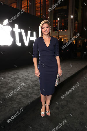 "Katherine Jean Bolduan attends Apple's global premiere of ""The Morning Show"" at Josie Robertson Plaza and David Geffen Hall, Lincoln Center for the Performing Arts, New York City on October 28, 2019. ""The Morning Show"" debuts November 1 on Apple TV+, available on the Apple TV app."