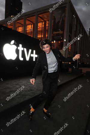 """Adrian Blake Enscoe attends Apple's global premiere of """"The Morning Show"""" at Josie Robertson Plaza and David Geffen Hall, Lincoln Center for the Performing Arts, New York City on October 28, 2019. """"The Morning Show"""" debuts November 1 on Apple TV+, available on the Apple TV app."""