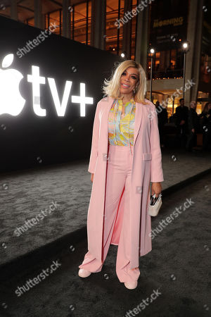 """Wendy Williams attends Apple's global premiere of """"The Morning Show"""" at Josie Robertson Plaza and David Geffen Hall, Lincoln Center for the Performing Arts, New York City on October 28, 2019. """"The Morning Show"""" debuts November 1 on Apple TV+, available on the Apple TV app."""