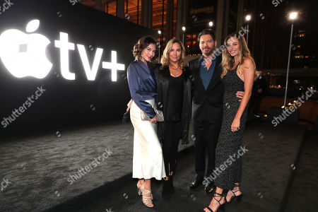 "Sarah Kate Connick, Jill Goodacre, Harry Connick Jr. and Georgia Tatum Connick attend Apple's global premiere of ""The Morning Show"" at Josie Robertson Plaza and David Geffen Hall, Lincoln Center for the Performing Arts, New York City on October 28, 2019. ""The Morning Show"" debuts November 1 on Apple TV+, available on the Apple TV app."