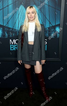"""Marta Pozzan attends the LA Premiere of """"Motherless Brooklyn"""" at the Hollywood American Legion Post 43, in Los Angeles"""