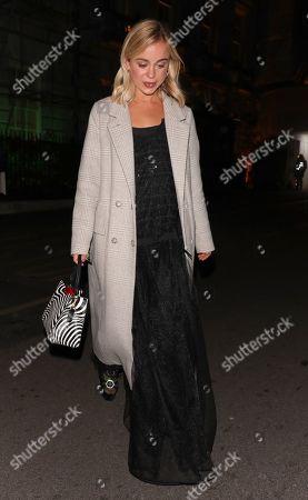 Lady Amelia Windsor leaving Annabel's Club