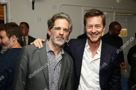 Stock Image of Jonathan Lethem and Edward Norton
