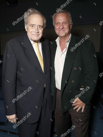 Stock Photo of Producer Arthur Cohn and Vance Van Petten