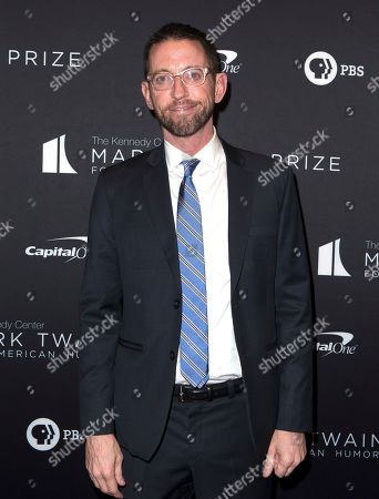 Stock Image of Neal Brennan arrives at the Kennedy Center for the Performing Arts for the 22nd Annual Mark Twain Prize for American Humor presented to Dave Chappelle, in Washington, D.C