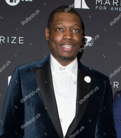 Michael Che arrives at the Kennedy Center for the Performing Arts for the 22nd Annual Mark Twain Prize for American Humor presented to Dave Chappelle, in Washington, D.C